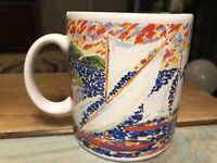 Large Century Stoneware Japan Modern Sailboat Coffee Mug