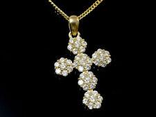 Halsketten und Anhänger im Collier-Stil mit echten Edelsteinen Kreuz