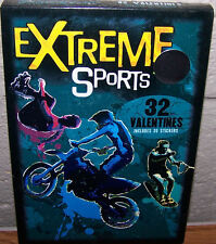 Valentines Day Cards (Box of 32) Extreme Sports includes Stickers