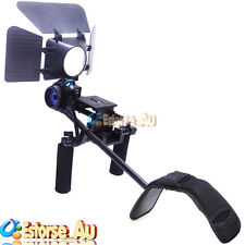 DSLR/VCR Rig Movie Kit Follow Focus + Matte Box + Shoulder Mount For 5DII III 6D