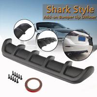 """25""""x5"""" Carbon Fiber Look Car ABS Rear Shark  Curved Bumper Lip Diffuser 6"""