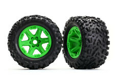 Traxxas Talon EXT Pre-Mounted Tires & Wheels (2) (Green) (TSM Rated) TRA8672G