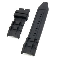 26mm Rubber Black Watch Band Strap For Invicta Pro Diver 6977-6978-6981-6983