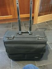SAMSONITE BLACK SUITCASE CARRY ON Electronics 48CM CASE 2 WHEEL  code lock