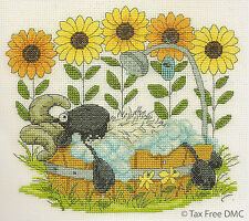 VAT Free DMC Counted Cross Stitch Kit Shabby Sheep Time to Relax BK1569 New