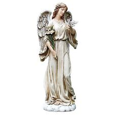 Roman Josephs Poly Garden / Patio / Lawn / Flower Bed Angel With Dove Statue