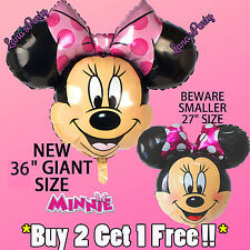 """XL Minnie Mouse Balloon 36"""" ~~ Awesome Party birthday Super Shape! Pink Bow"""