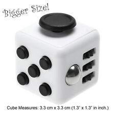 NY IN STOCK Fidget Cube Anxiety Stress Relief Better Focus Toys Gift B&W Larger