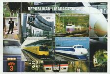 EXPRESS TRAINS SHONAN SUPER AZUSA MADAGASIKARA 1999 MNH STAMP SHEETLET