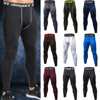 Men Thermal Compression Tight Base Layer Pants Long Leggings Gym Sports Trousers