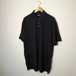 Dickies Black Men's Polo Shirt Workwear Vintage Size UK 4XL XXXXL