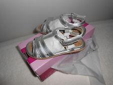 NIB Girls Jumping Jacks Tess Ankle Strap Sandal Toddler Size 8 Silver