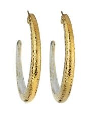 NEW GURHAN  GOLD LARGE TAPERED HOOP EARRINGS/ MSRP $310 /A GREAT BUY!
