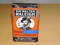 VINTAGE SIR WALTER RALEIGH PIPE & CIGARETTES SMOKING TOBACCO TIN *EMPTY*****