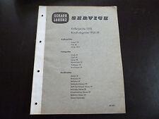 Original Service Manual Schaub Lorenz Koffergeräte 1960 Rundfunkgeräte 1960/61