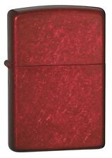 """Zippo """"Candy Apple Red"""" Windproof Lighter 21063 --- Free Ship"""