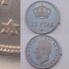 25 Pesetas De Juan Carlos 1975 *76 1976 Moneda S/C 5 Duros Del Rey