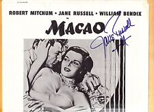 Jane Russell-signed Lobby Poster-17-Vintage JSA - SIGNED 4 TIMES by RUSSELL!