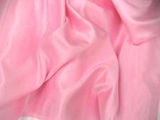 Pink Duchess Satin Bridal Wedding Dress Fabric SAMPLE, FREE P & P
