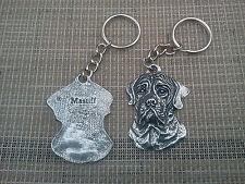 Purebred Pet 1 English Mastiff Dog Pewter Key Chain New.