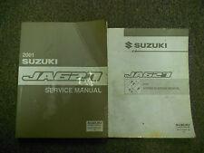 2001 SUZUKI JA627 Service Repair Wiring Diagram Shop Manual STAINS WORN 2VOL SET