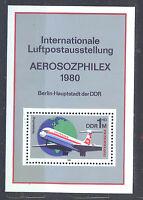 ALEMANIA/RDA EAST GERMANY 1980 MNH SC.B191 AEROZPHILEX,airpost exhib.