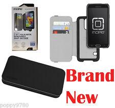 New Incipio Watson Wallet Folio Case Samsung Galaxy S5 Black w/ 3 CC Card Slots