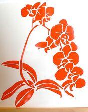 adesivo fiore orchidea orchidee vinile casa camper wall sticker 13x25cm auto