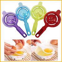 Egg Yolk Separators White Baking Kitchen Strainer Cook Essentials Plastic Sieve
