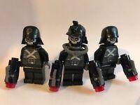 3 LEGO minifigure Star Wars - DEATH TROOPERS ZOMBIE (75197 & 76050)