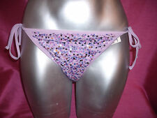 Victorias Secret PINK SEXY SWIMWEAR BIKINI  BOTTOM  LILAC SEQUIN  XS