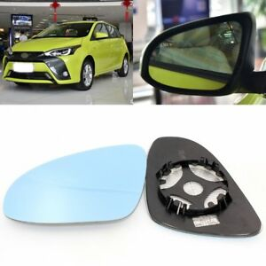 For Toyota YARiS L 2014-2017 Side View Door Mirror Blue Glass With Base Heated
