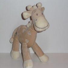 Doudou Girafe Mots d'enfants - Marron Blanc