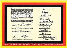 Postkarte 1974 Ganzsache BRD BUND Bundespost ungelaufen 25 Jahre Bundesrepublik