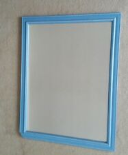 Wooden hanging Mirror blue frame 600MM X 450CM glass.