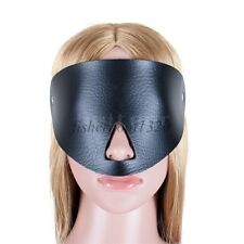Faux Leather Fancy Eye Cover Mask Open Nose Black Blindfold Roleplay Game New