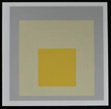 Josef Albers# HOMAGE TO THE SQUARE, Yellow /grey # original silkscreen, 1973