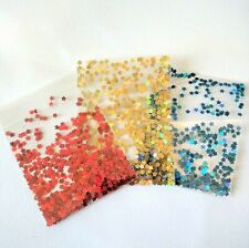 3X Nail Art Glitter Flowers Stars For Gel Acrylic Polish Artistry Red Gold Blue