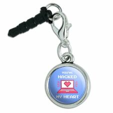 You've Hacked My Heart Love Funny Humor Mobile Cell Phone Headphone Jack Charm