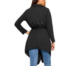 Waterfall Cardigan Belted Draped Lightweight Modest Wear Cover Up Blazer Jacket
