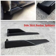 Bumper Lip Winglets Side Skirt Extensions 2PC Universal Fit Wings