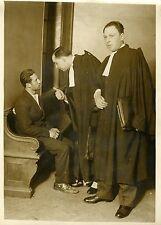 """""""Emile VASSAUX & Me Jean-Henri LEMAÎTRE 1932"""" Photo origin. G. DEVRED (Agce ROL)"""