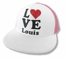 One Direction Love Heart Louis Mesh Trucker Hat Cap New Official 1D Baseball