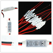 5× DC 12V Inline Switch Dimmer Controler Adapter Cable Connector Cable LED Strip