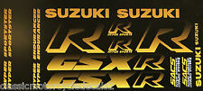 SUZUKI GSXR750 GSXR1100 HYPER RESTORATION DECAL SET BLACK/GOLD 1987