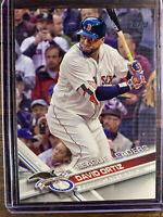 2017 David Ortiz Boston Red Sox League Leaders Topps Baseball Card # 229 MLB HOF