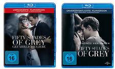 Fifty Shades of Grey 1 + 2 [2x Blu-ray]  *NEU* Unmaskierte Filmversion 50 I & II