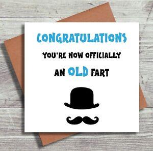 Funny Birthday Card Male Husband Boyfriend Grandad Old Man Joke Card Humour