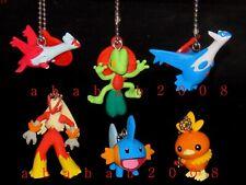 Bandai Pokemon figure keychain gashapon (full set of 6 figures) made in 2002