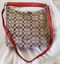 Coach Celeste Women Convertible Hobo Bag Khaki Cardinal W/WRISTLET